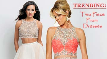 Shop two piece prom dresses at Peaches Boutique