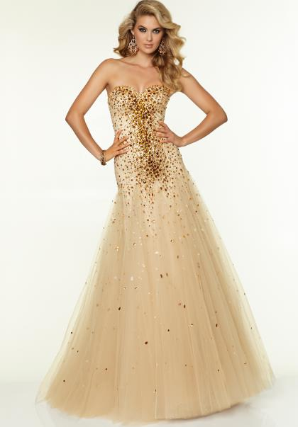 Mori Lee Brown Prom Dresses 15