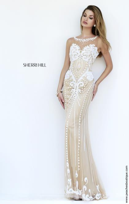 Sherri Hill Long Lace Dress 9737
