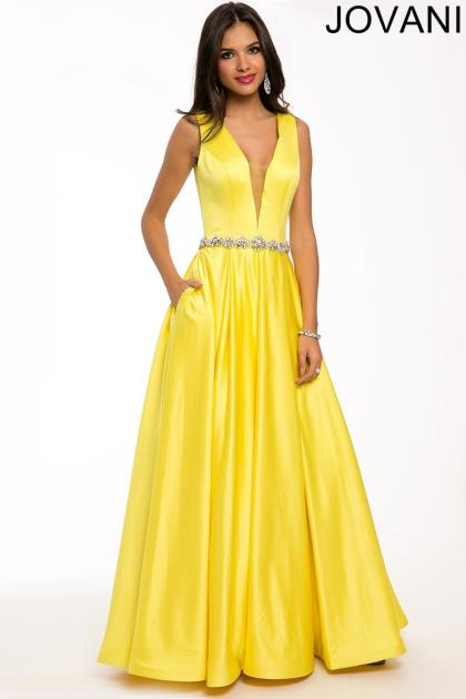 Yellow Jovani Prom Dresses 31