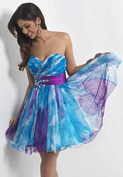 Blue And Purple Prom Dresses - Fashion Ideas