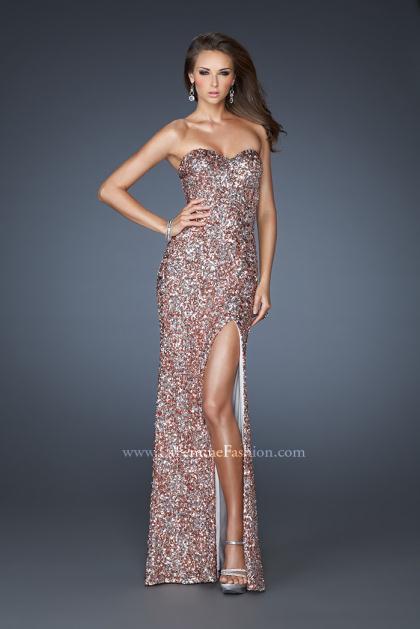 Copper prom dresses