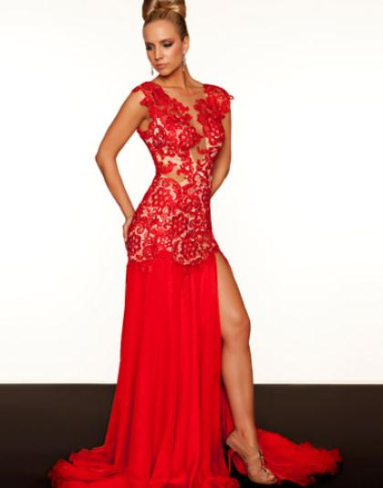 61041R - Red/Nude