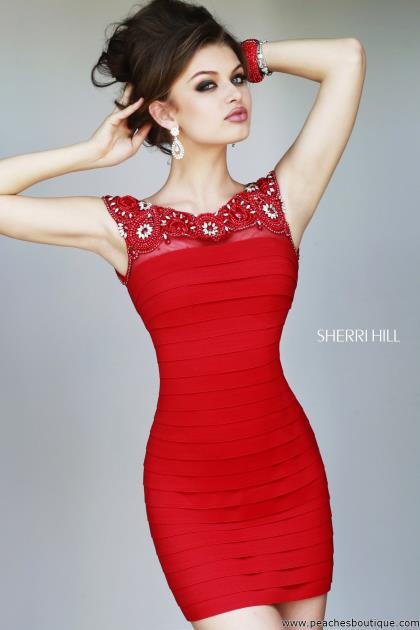 Red Fitted Dresses