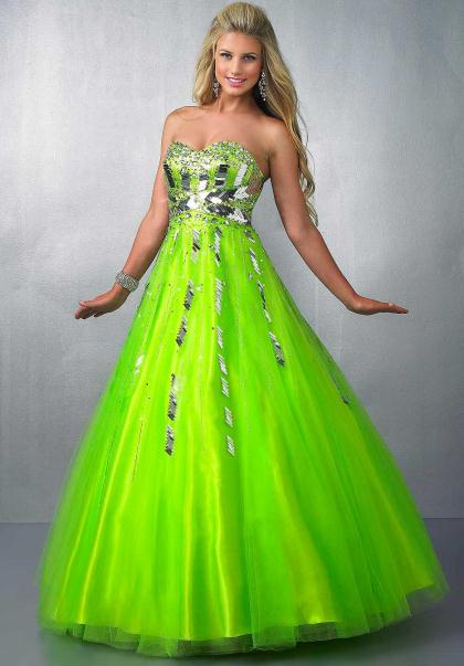 Lime green and black homecoming dresses