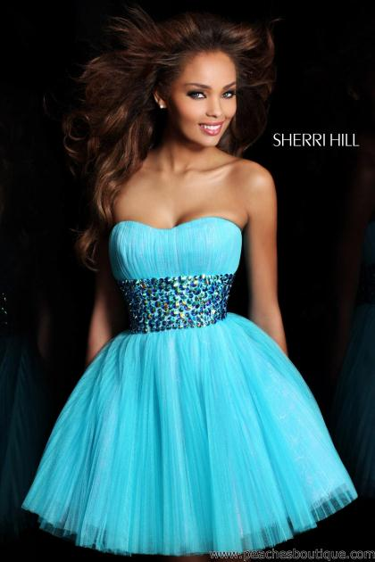 Sherri Hill Short Prom Dresses Peaches Boutique