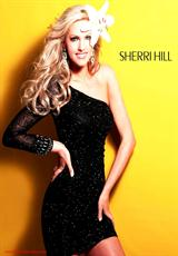 Sherri Hill Short 1452.  Available in Black, Green, Gunmetal, Ivory/Gold/Silver, Nude, Orange, Red, Royal, White, Yellow