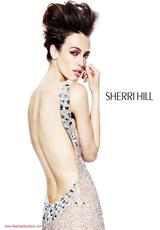 Sherri Hill 1520.  Available in Aqua/Silver, Black, Gunmetal, Pink/Silver