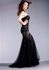 Jovani 153050.  Available in Black, Royal, White