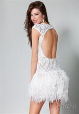 Jovani Cocktail 171924.  Available in Black/Nude, White/Nude