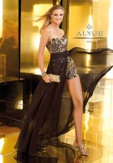 Alyce 2210.  Available in Black/Gold