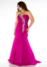 Fabulouss Plus Size 64503F.  Available in Aqua, Magenta