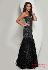 Jasz Couture 4872.  Available in Black/Silver