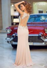 Jovani 90723.  Available in Black/Nude, Blush/Nude, Red/Nude, White/Nude