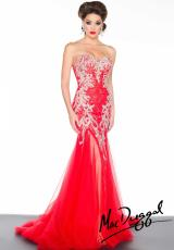 MacDuggal 81901R.  Available in Black/Silver, Ivory/Nude, Red/Nude