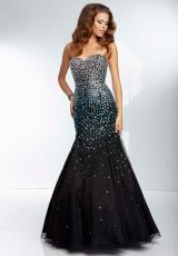 Mori Lee 95034.  Available in Black/Bronze, Black/Purple, Black/Turquoise