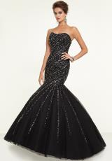 Mori Lee 97147.  Available in Black, Nude, Stiletto