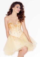 Mori Lee Sticks and Stones 9214.  Available in Champagne/Amber, Gold, White/Turquoise