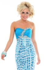 Precious Formals P46619.  Available in Blk/Wht, Blue/Wht