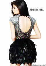 Sherri Hill Short 21045.  Available in Black/Multi