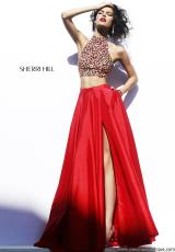 Sherri Hill 32020.  Available in Emerald, Red, Royal