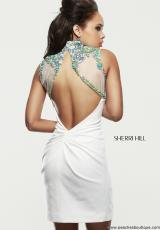 Sherri Hill Short 32037.  Available in Ivory/Multi