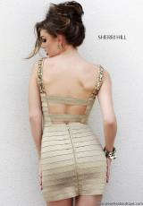 Sherri Hill Short 32046.  Available in Gold, Silver