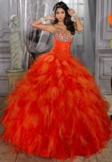 Tiffany Quinceanera 26674.  Available in Persimmon/Orange, Purple/Orchid, White/White