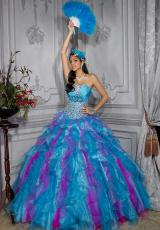 Tiffany Quinceanera 26683.  Available in Black/Black, Turquoise/Fuchsia, Turquoise/Multi, White/White