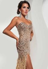 Jasz Couture 4826.  Available in Aqua, Nude