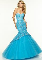 Mori Lee 97108.  Available in Bright Blue, Bright Coral, Champagne