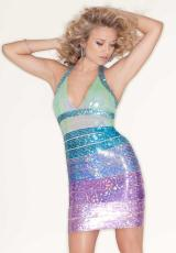 Mori Lee Sticks and Stones 9211.  Available in Aqua/Pink, Blue/Purple
