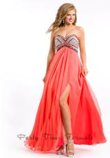 Party Time Dresses 6458.  Available in Coral, Royal