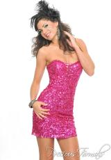 Precious Formals P8879.  Available in Fuchsia, Ivory/Gold