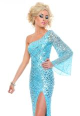 Precious Formals P8929.  Available in Nude Gold Shimmer, Sky Blue