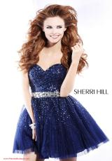Sherri Hill Short 2787.  Available in Black/Black/Gunmetal