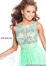 Sherri Hill 11022.  Available in Blush, Green