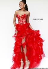 Sherri Hill 11093.  Available in Coral, Emerald, Ivory, Lilac, Red, Turquoise