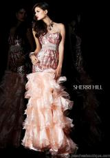Sherri Hill 21003.  Available in Ivory, Nude, Peach