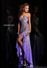 Sherri Hill 8510.  Available in Ivory, Pink, Purple, Strawberry, Turquoise