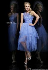 Sherri Hill Short 21239.  Available in Ivory, Light Blue, Light Green, Periwinkle, Red