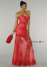Alyce 6343.  Available in Navy/Nude, Red/Ice Pink, Teal/Nude