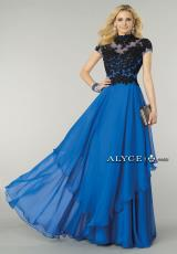Alyce 6386.  Available in Champagne/Ivory, Emerald/Black, Royal/Black, White/Black