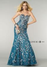 Alyce 6402.  Available in Black/Gold, Blueberry/Silver, White/Royal