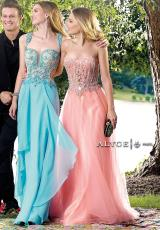 Alyce 6404.  Available in Coral, Light Periwinkle, Navy/Gold