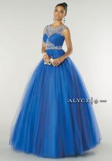 Alyce 6433.  Available in Coral, Lilac, Mint, Royal/Silver