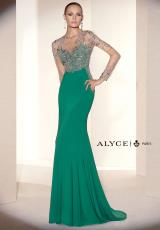 Alyce 5657.  Available in Deep Coral, Mint Leaf/Nude