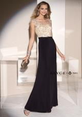 Alyce 5685.  Available in Black/Champagne, Blue Coral/Champagne, Forest/Champagne