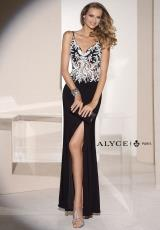 Alyce 5687.  Available in Black/White, Champagne/White, Cobalt/White