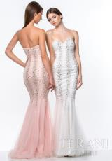 Terani 151P0198.  Available in Ivory, Light Pink, Lilac